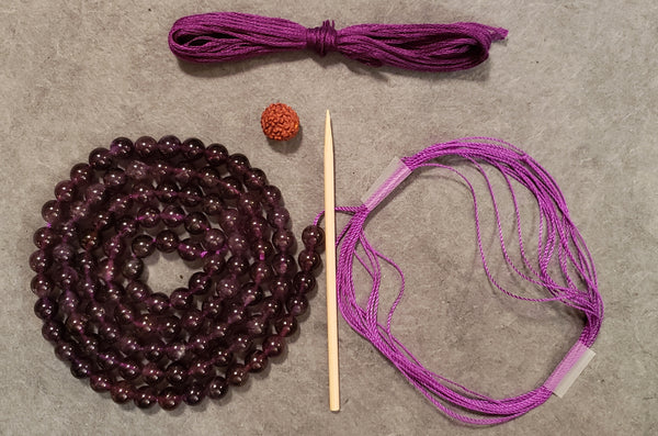 Third Eye Chakra Mala Kit - Amethyst
