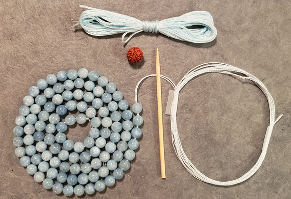 Deep Connection Mala Kit - Aquamarine