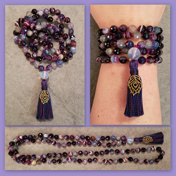 Self Confidence Mala - Cracked Agate