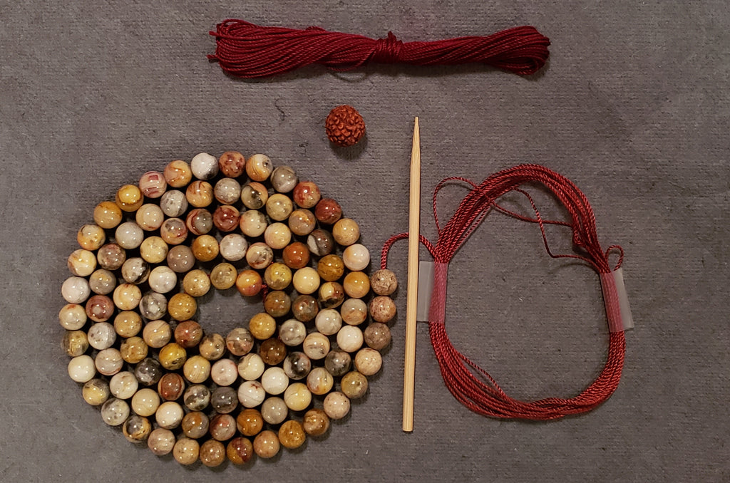 Happiness Mala Kit - Crazy Lace Agate