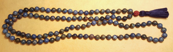 Ease and Grace Mala - Dumortierite