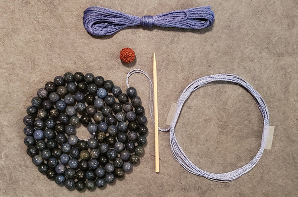 Ease and Grace Mala Kit - Dumortierite