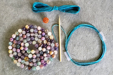 Clarity Mala Kit - Multi Rainbow Fluorite