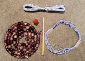 Clarity Mala Kit - Purple Fluorite