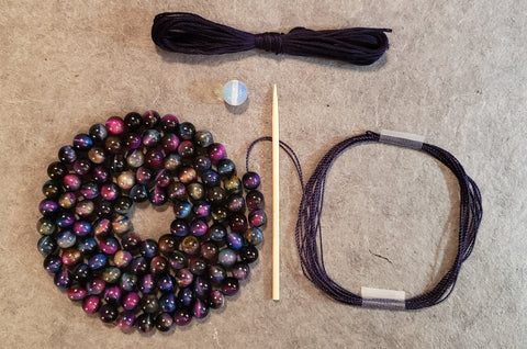 "Galaxy Mala Kit - ""Galaxy"" Tiger Eye"