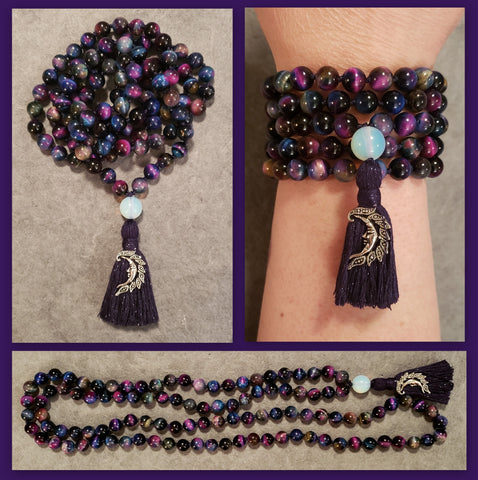 "Galaxy Mala - ""Galaxy"" Tiger Eye"