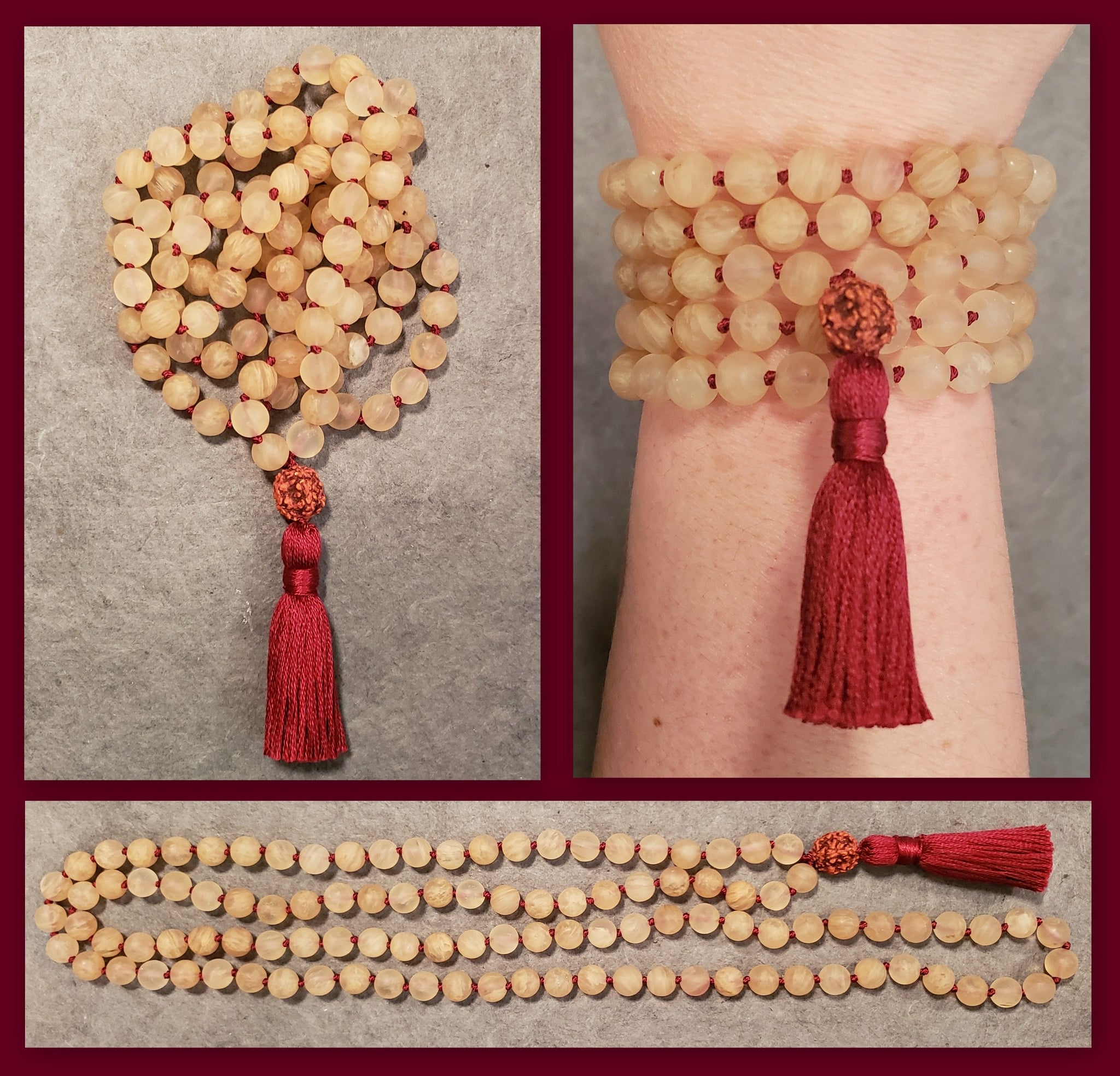 Adventure Mala - Golden Aura Quartz