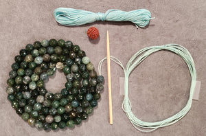 Prosperity Mala Kit - Green Moss Opal