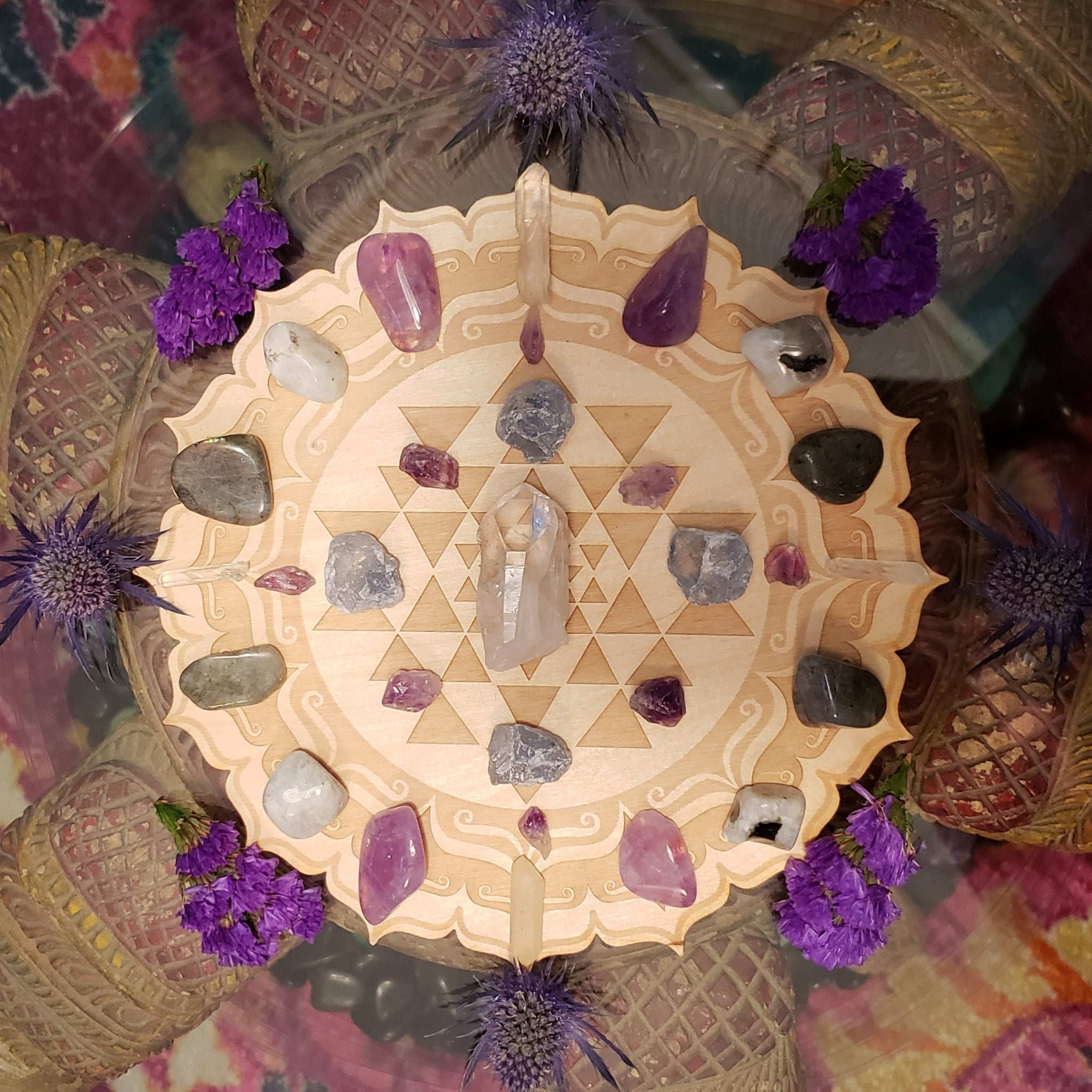 Intuition and Psychic Channels Crystal Grid Kit