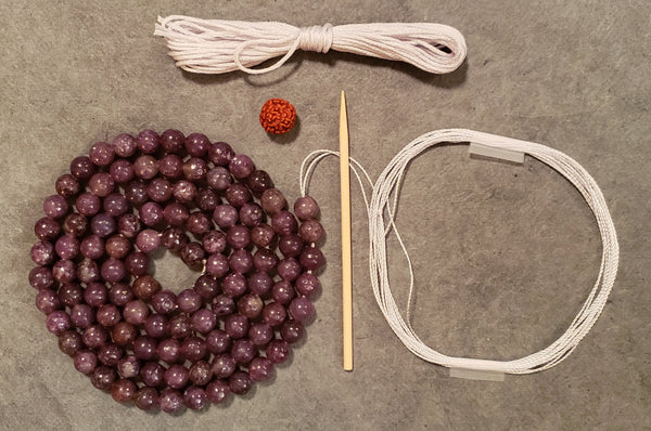 Support Mala Kit - Lepidolite