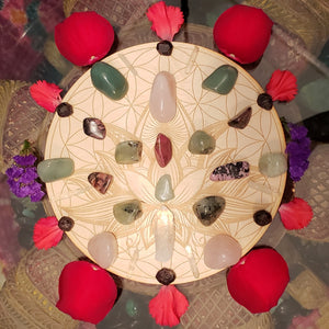 Love and Heart Healing Crystal Grid Kit