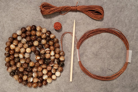 Brotherhood Mala Kit - Madagascar Striped Agate