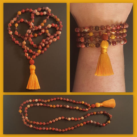 Guidance Mala - Mookaite - Petite (smaller beads)