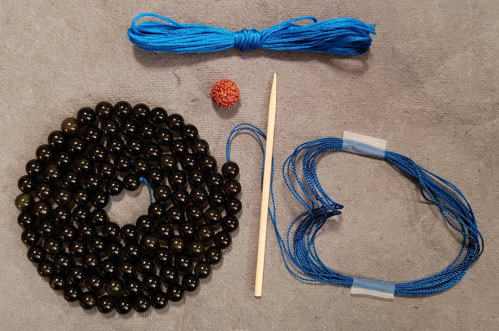 Protection Mala Kit - Black Obsidian