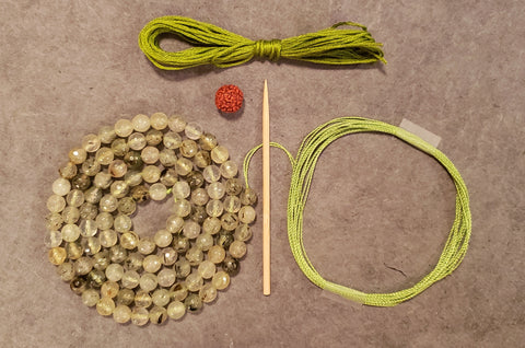Awareness Mala Kit - Prehnite