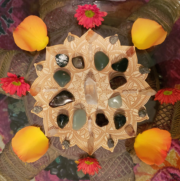 Prosperity and Abundance Crystal Grid Kit