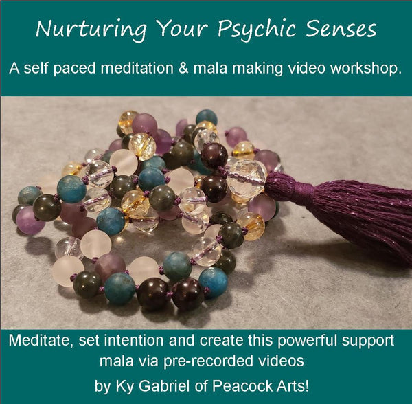 Self Paced Video Workshop -Nurturing Your Psychic Senses and Support Mala PRESALE ONLY