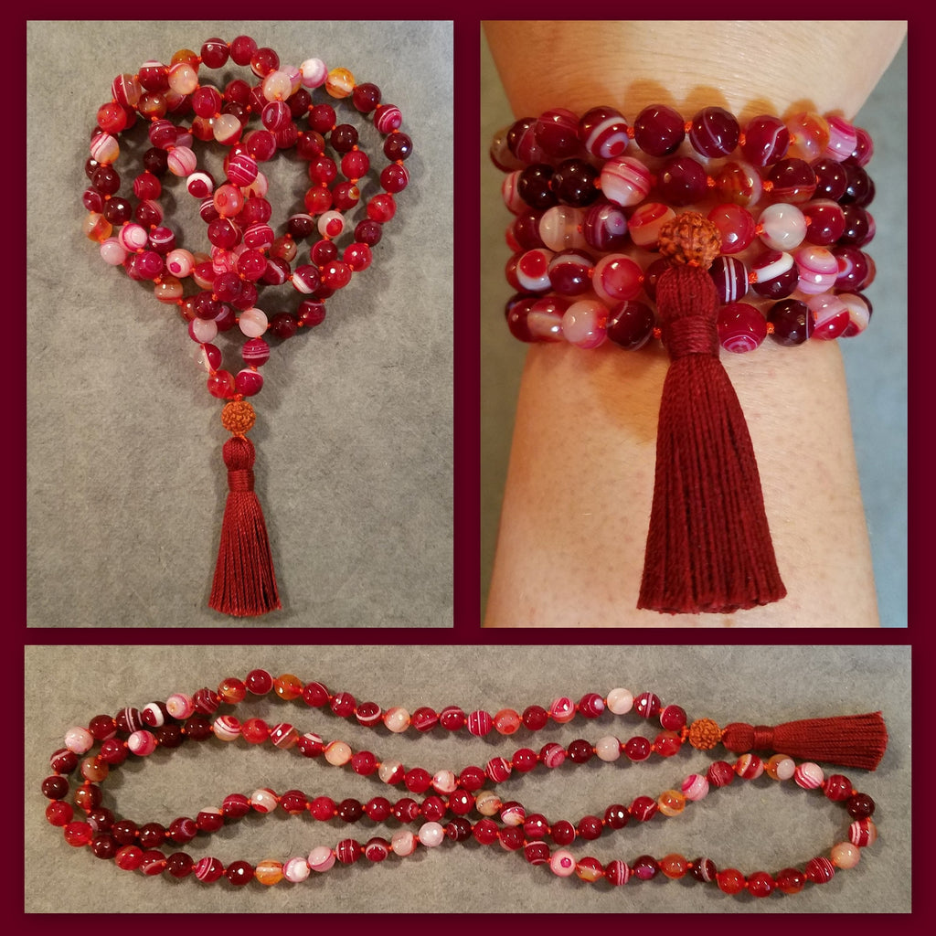 Power Mala - Red Agate