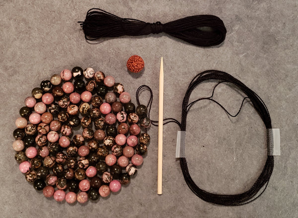 Well-Being Mala KIT - Rhodonite