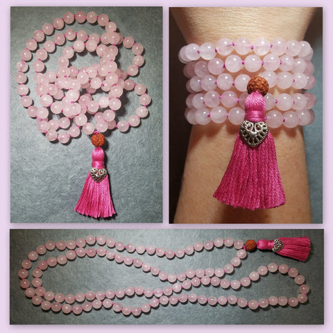 Heart Healing Mala - Rose Quartz