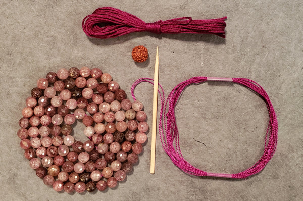 Invigoration Mala Kit - Strawberry Quartz