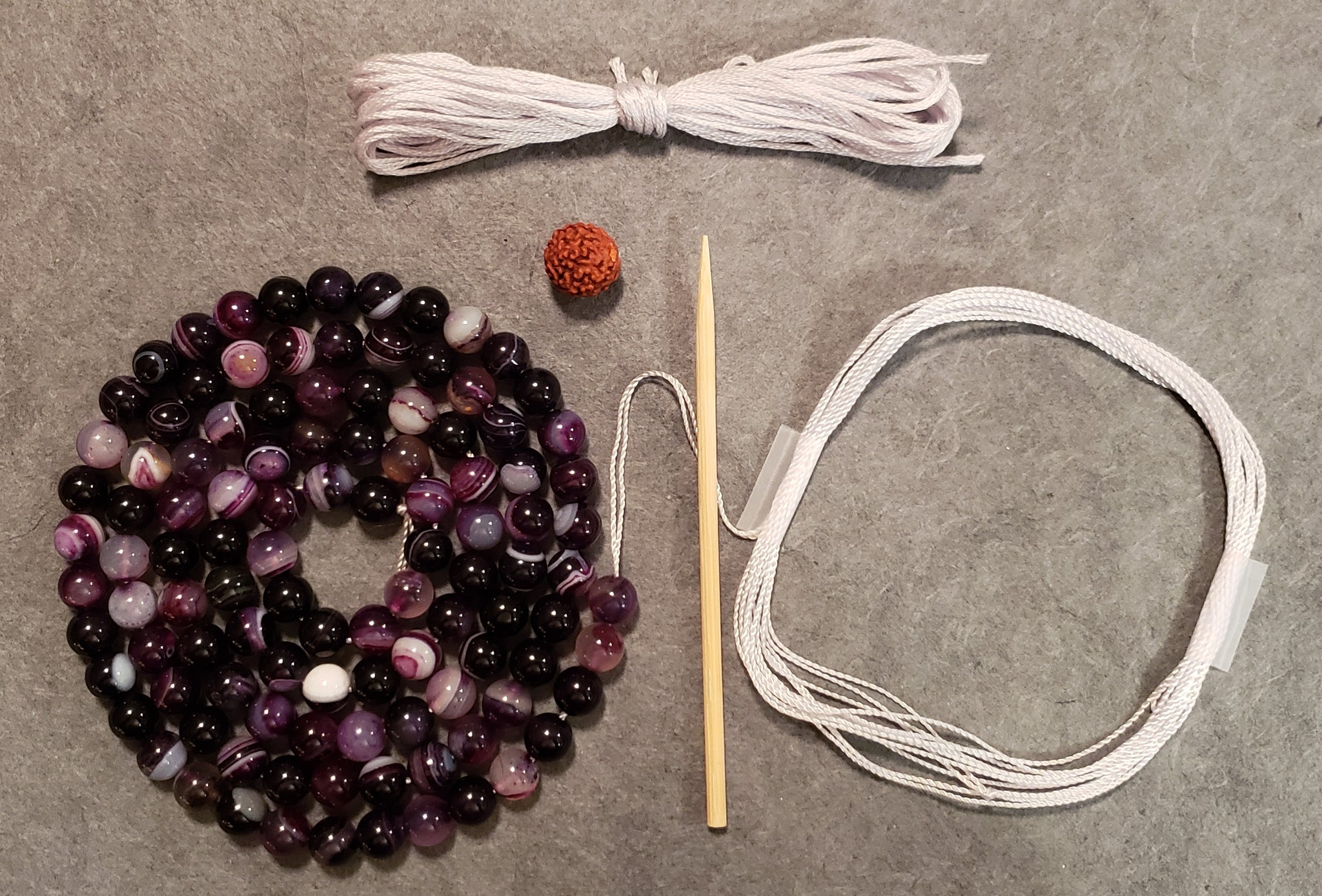 Harmonizing Mala Kit - Striped Agate