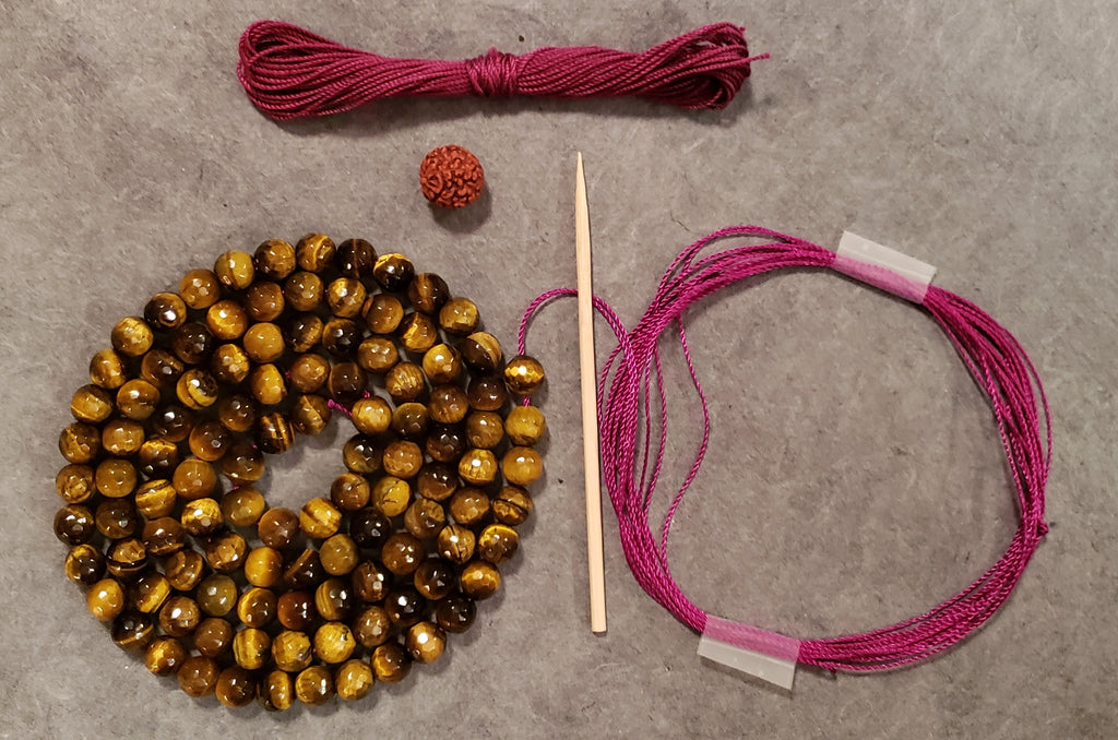 Solar Plexus Mala Kit - Tiger Eye