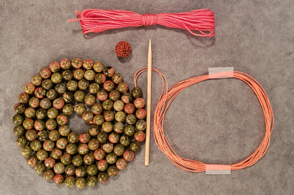 Compassion Mala KIT - Unakite