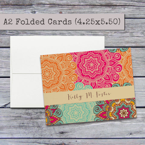 personalized stationery set personalized stationary custom notecards personalized notecards set custom gift - Custom Folded Note Cards