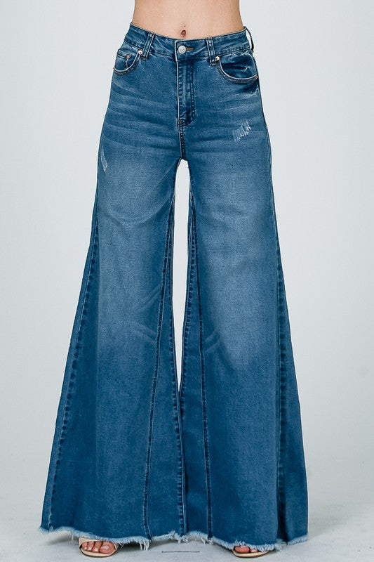 Culotte Flared Jeans
