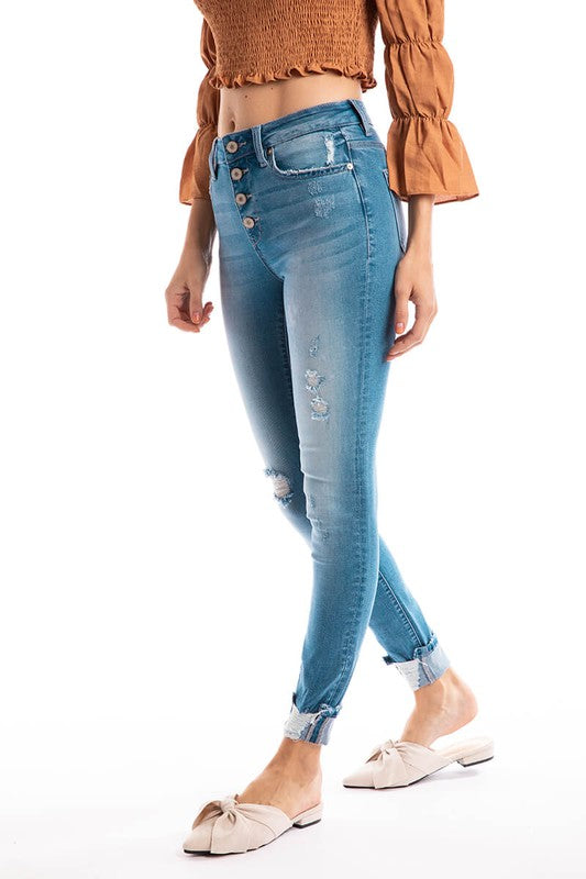 Gemma High Rise Ankle Skinnies