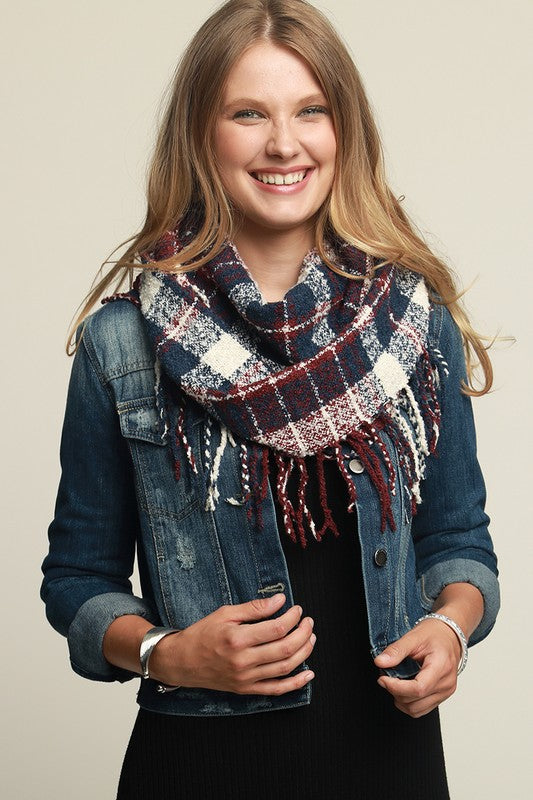 Soft Casual Plaid Infinity Scarf