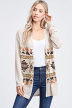 Aztec Ribbed Cardigan