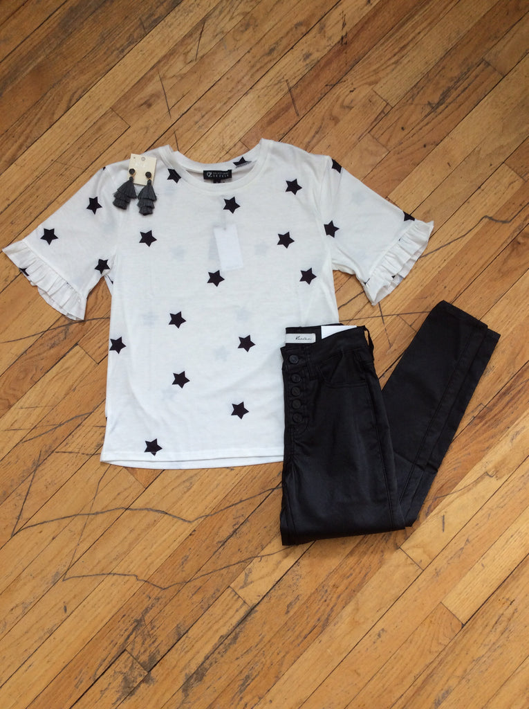 Ruffled Star Top