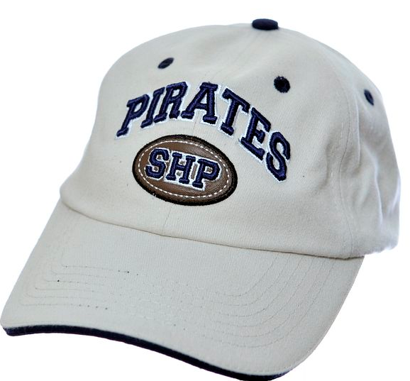 Pirates Khaki Leather Patch Hat