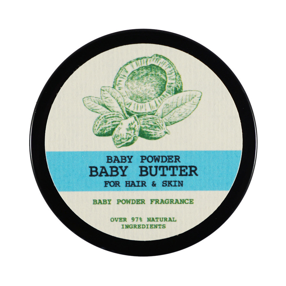 Baby Powder Baby Butter - Raw Shea Butter for Natural Hair, Skin, and Nails