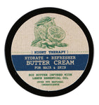 Hydrate + Refresher (Night Therapy) Shea Butter Cream with Lemons and Soybean for Natural Hair, Skin, and Nails
