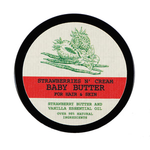Strawberries N' Cream Baby Shea Butter for Natural Hair, Skin and Nails