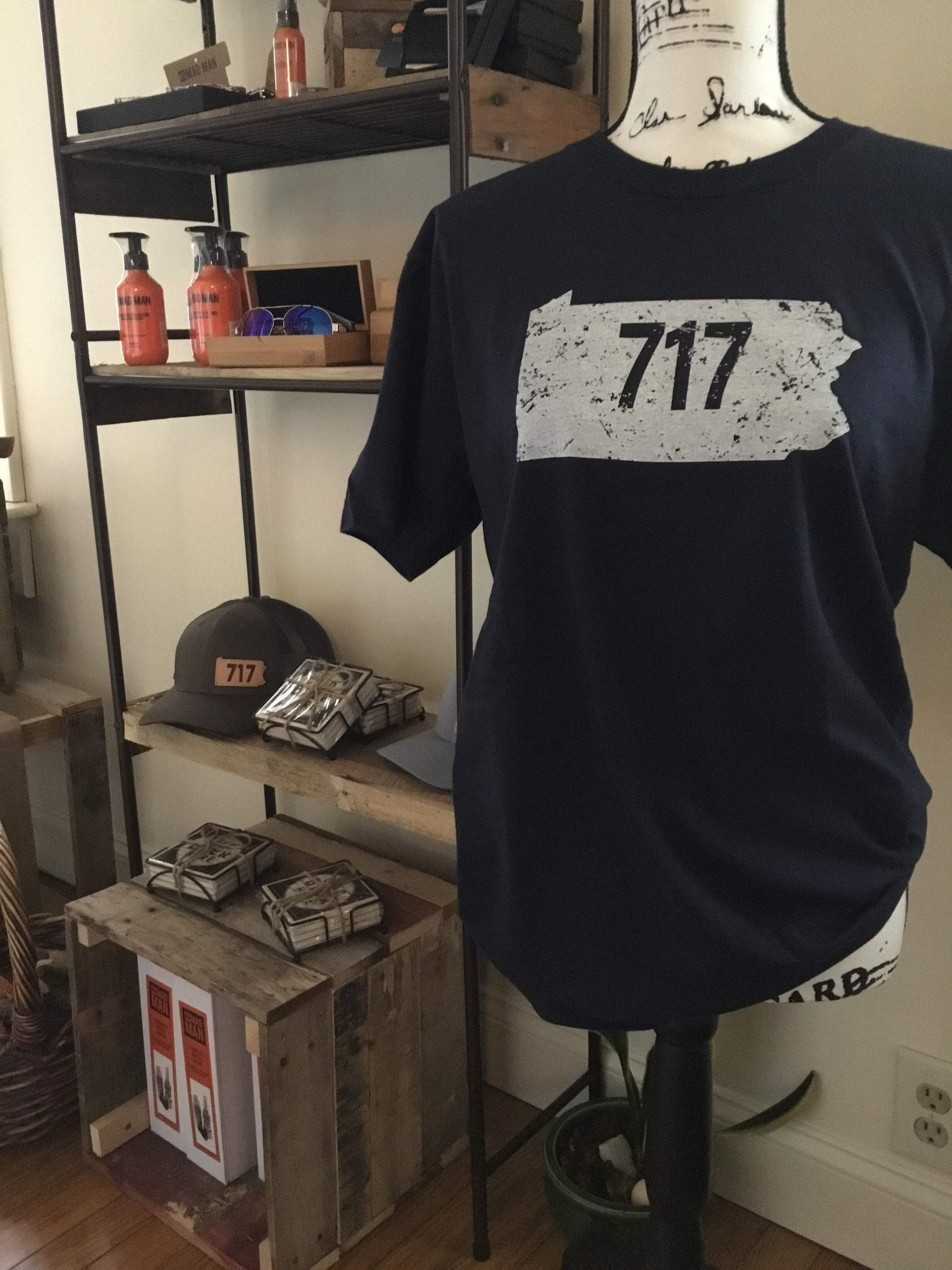 Men's items at local boutique