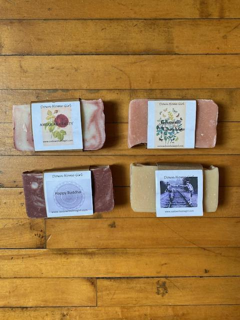All natural earthy scented soaps