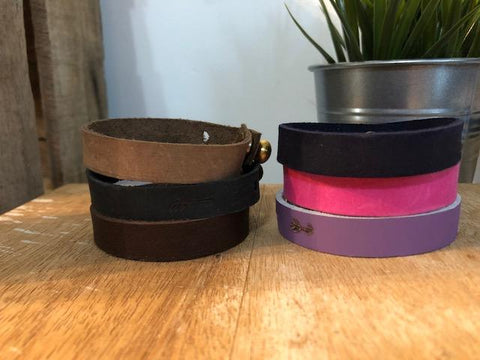 Leather Wrap Bracelet - Single