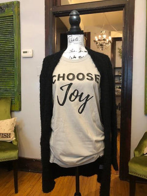 choose joy graphic tee t-shirt
