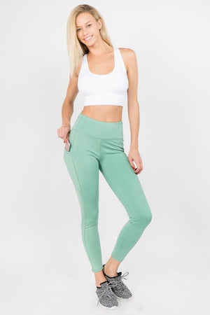 Super Soft Athletic Leggings with Tech Pocket