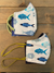 kids face mask fish pattern