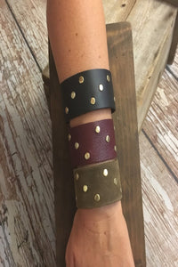 Grommet Leather Bracelet | Alex Wiencek - soulshine boutique
