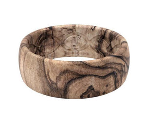 Groove Life Silicone Rings burled walnut
