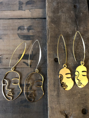 Statement earrings - hand crafted