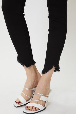 Kan Can High Rise Saturated Black Skinny Jean