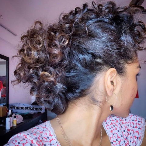 Pinned back ponytail
