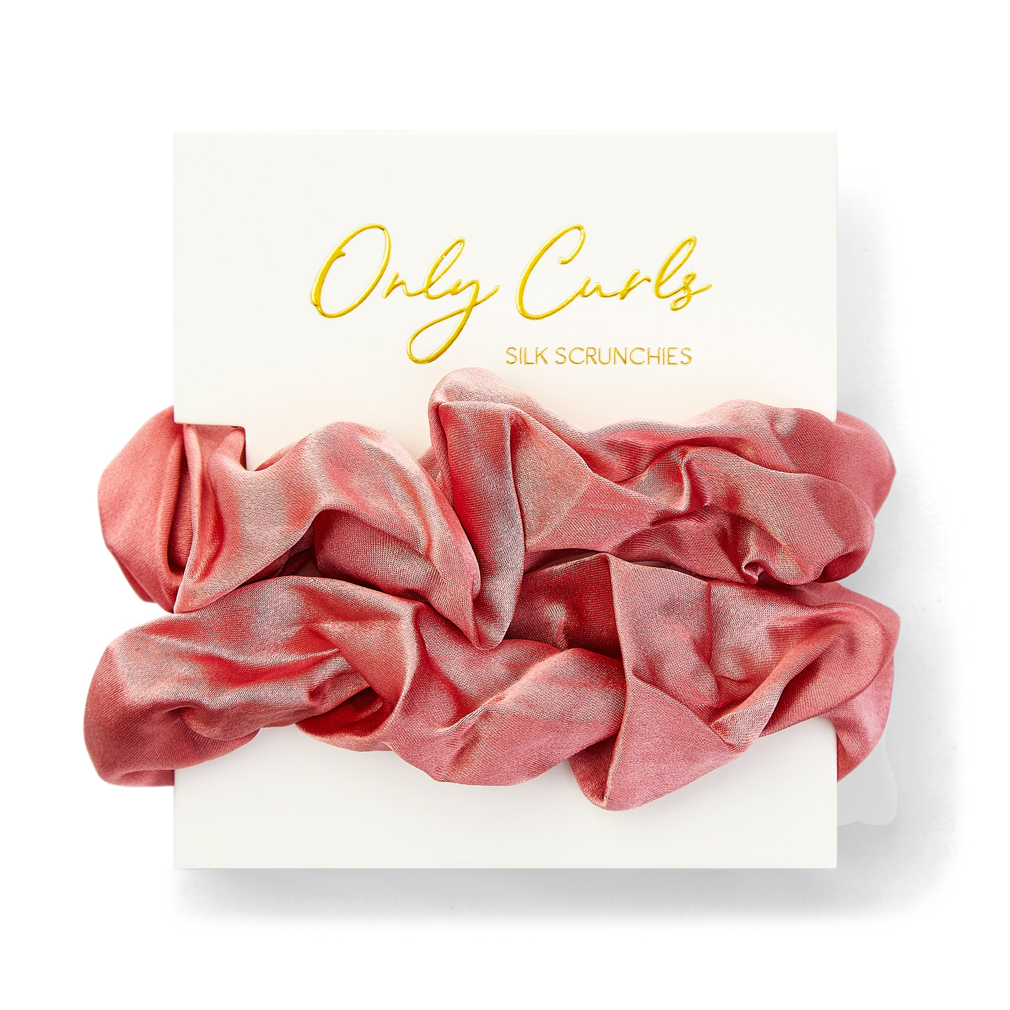 Only Curls Silk Scrunchies Dusty Rose - Only Curls